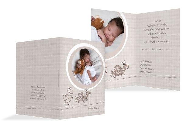 Baby Dankeskarte Schildi