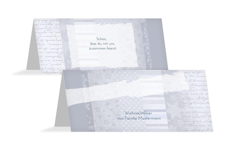 Tischkarte Geschenkpapier