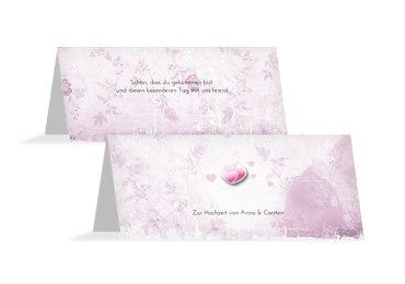 Hochzeit Tischkarte Din romantische Liebe
