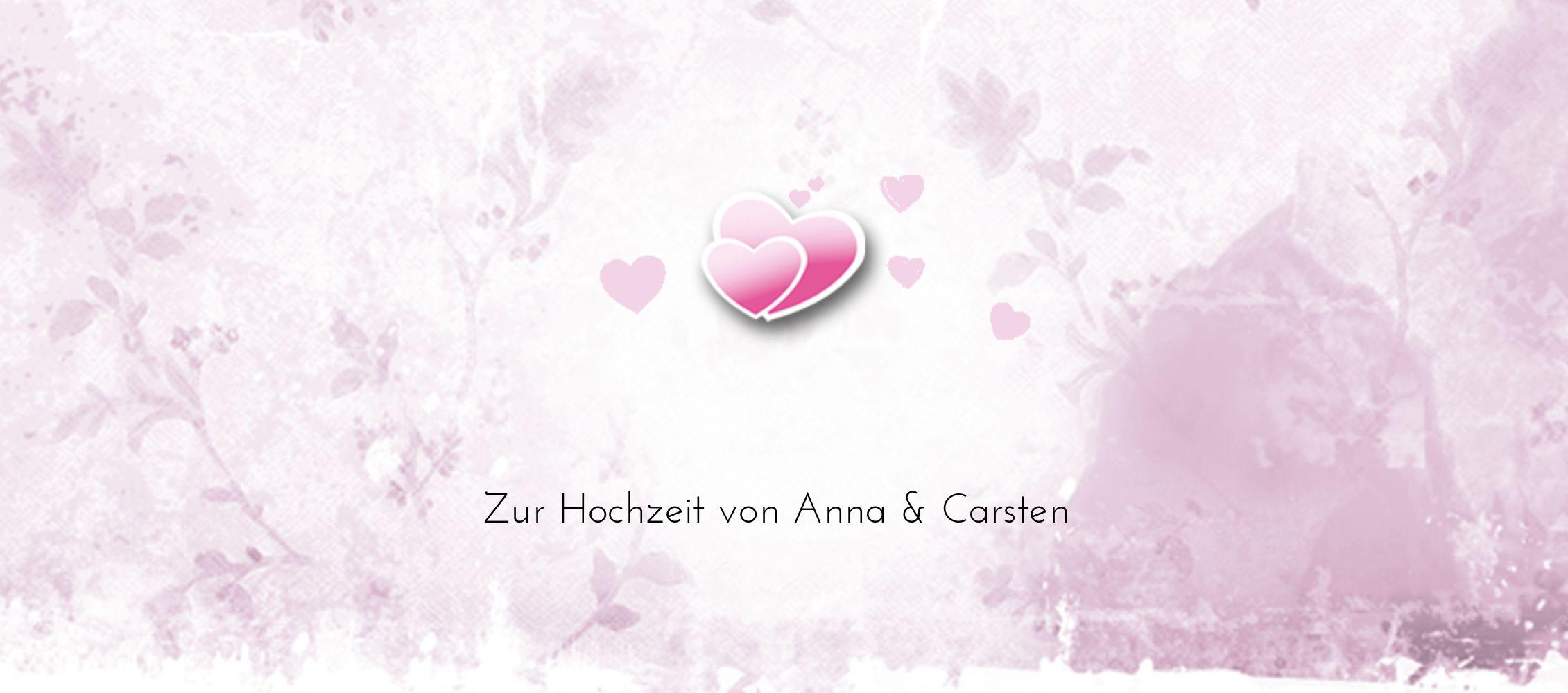 Ansicht 3 - Hochzeit Tischkarte Din romantische Liebe