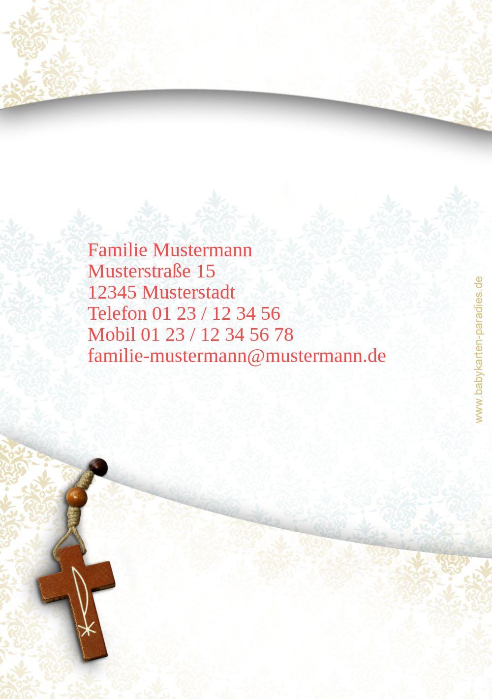 Ansicht 2 - Taufkarte Floral Rapport