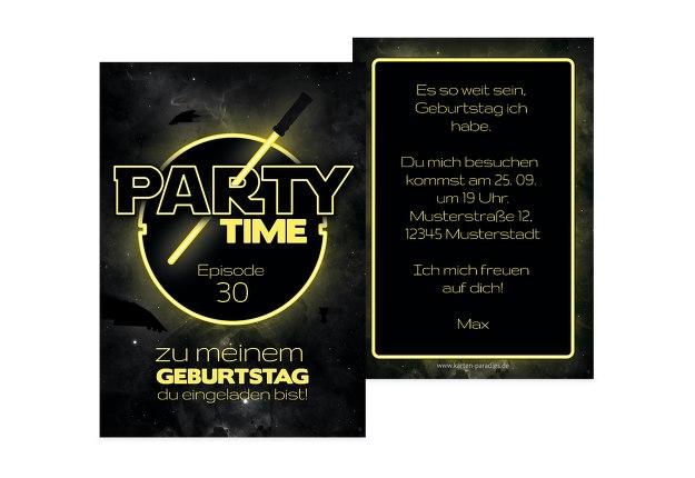 Geburtstagseinladung Partytime 30