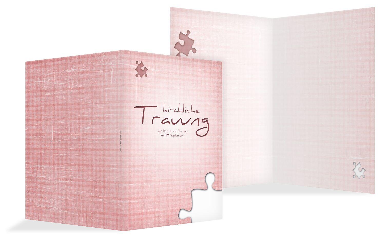 Hochzeit Kirchenheft Umschlag Puzzle