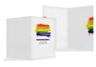 Kirchenheft Umschlag Regenbogenliebe