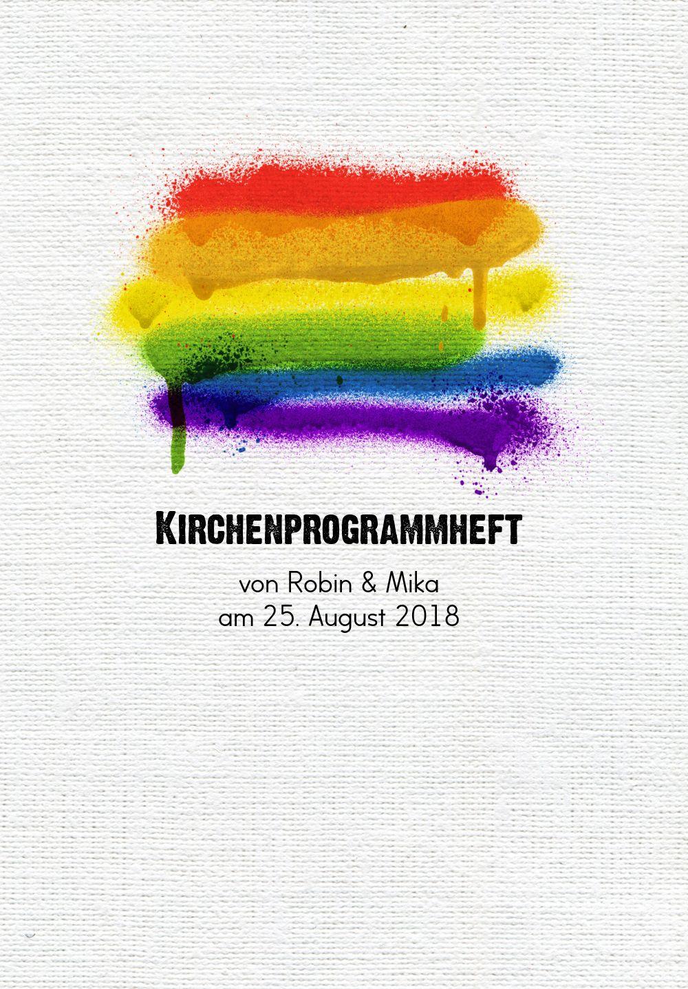 Ansicht 3 - Kirchenheft Umschlag Regenbogenliebe