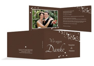 Hochzeit Dankeskarte romantic flower