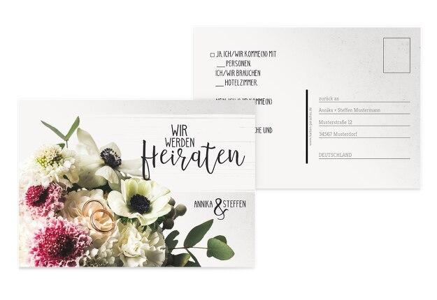 Antwortkarte Bouquet