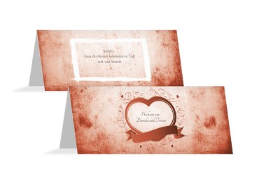 Hochzeit Tischkarte Herz