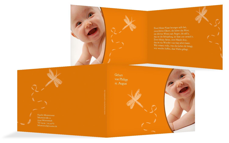 Babykarte Libelle