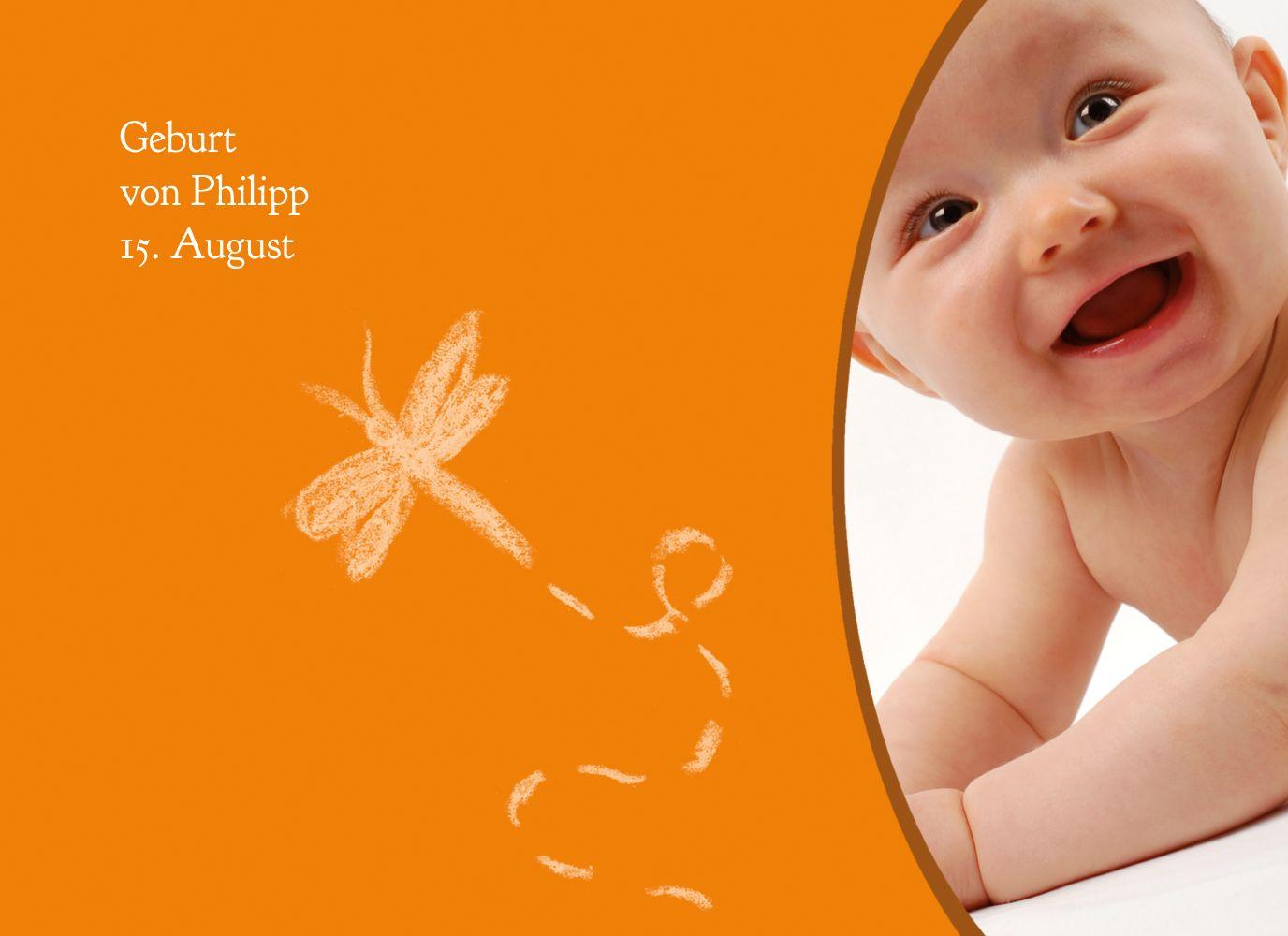 Ansicht 3 - Babykarte Libelle