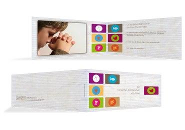 Firmung Dankeskarte buttons