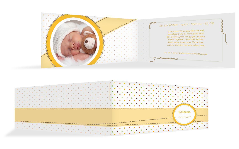 Babykarte Pünktchen
