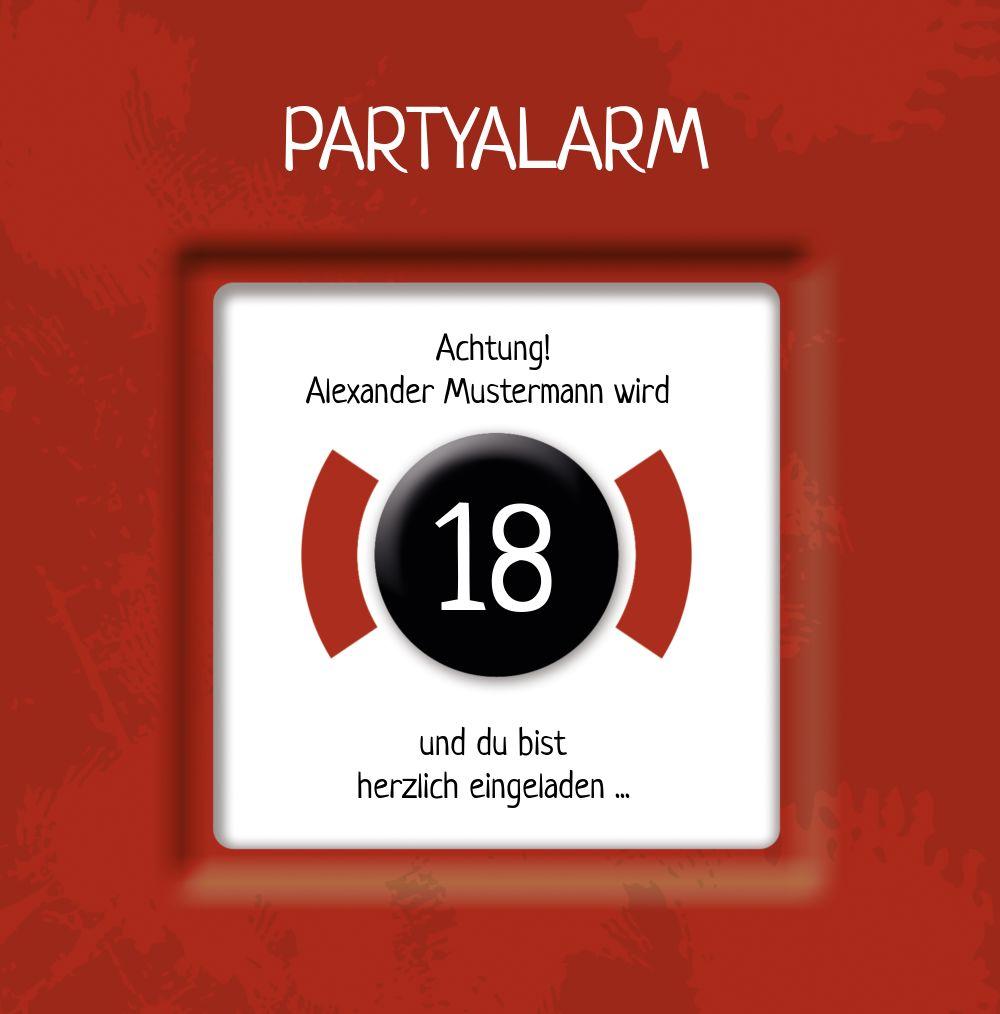 Ansicht 3 - Geburtstagskarte Partyalarm 18 Foto