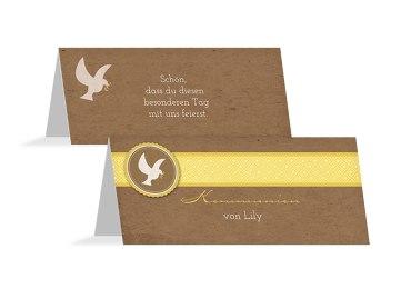 Kommunion Tischkarte Flügelschlag