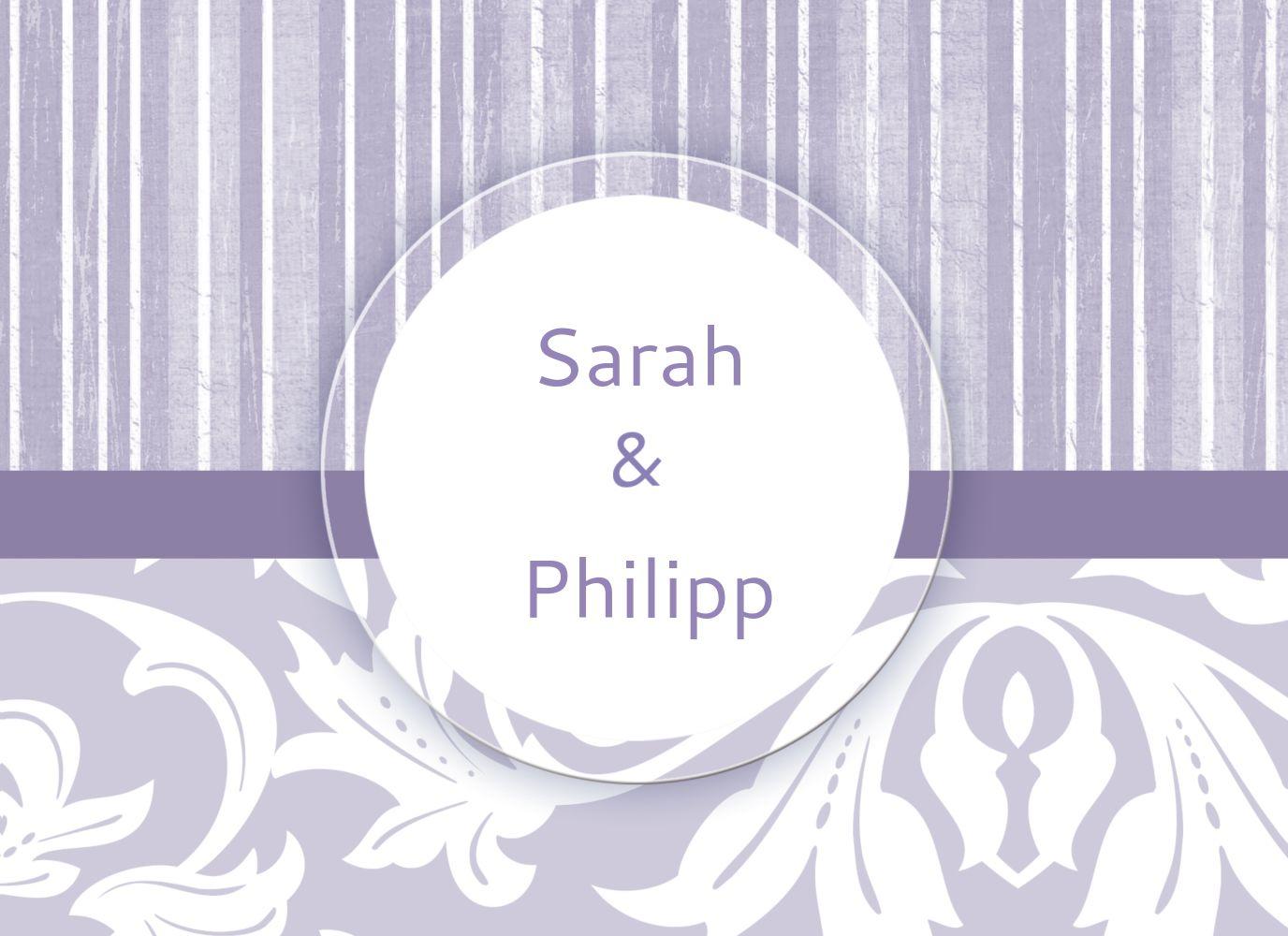 Ansicht 3 - Hochzeit Dankeskarte Streifenzauber