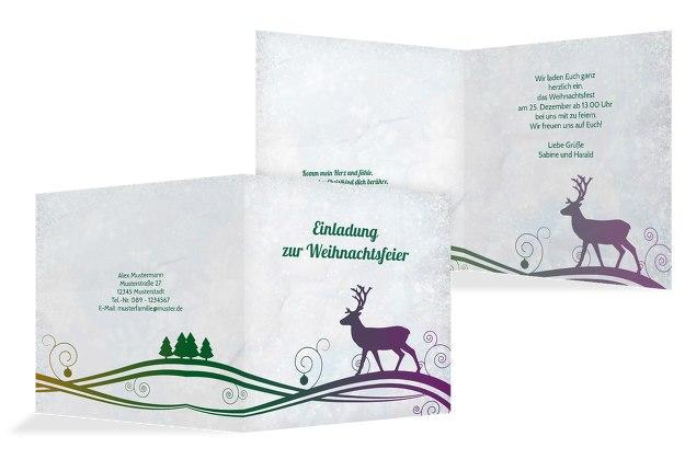 Einladungskarte Bunter Wintertraum