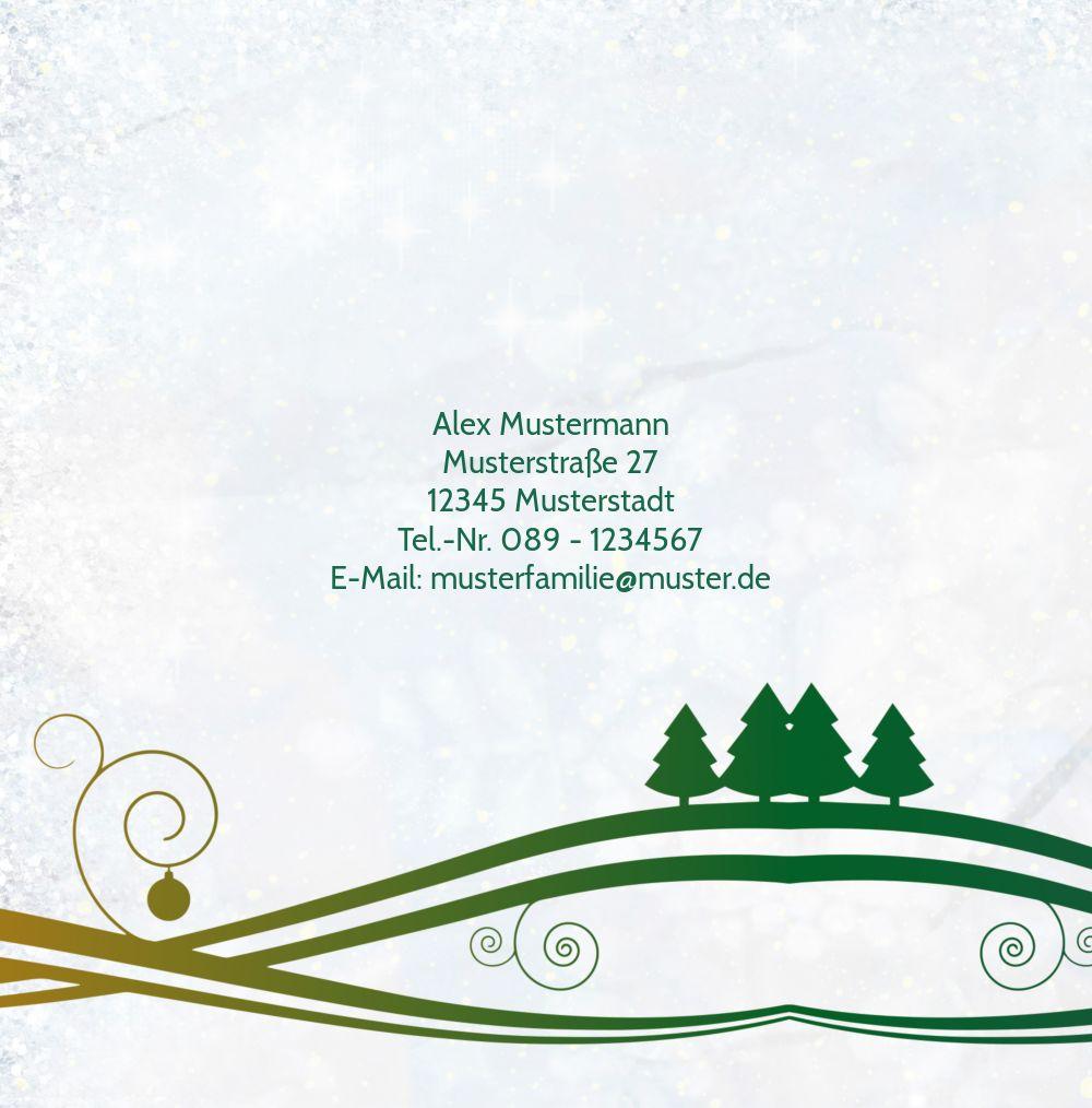 Ansicht 2 - Einladungskarte Bunter Wintertraum