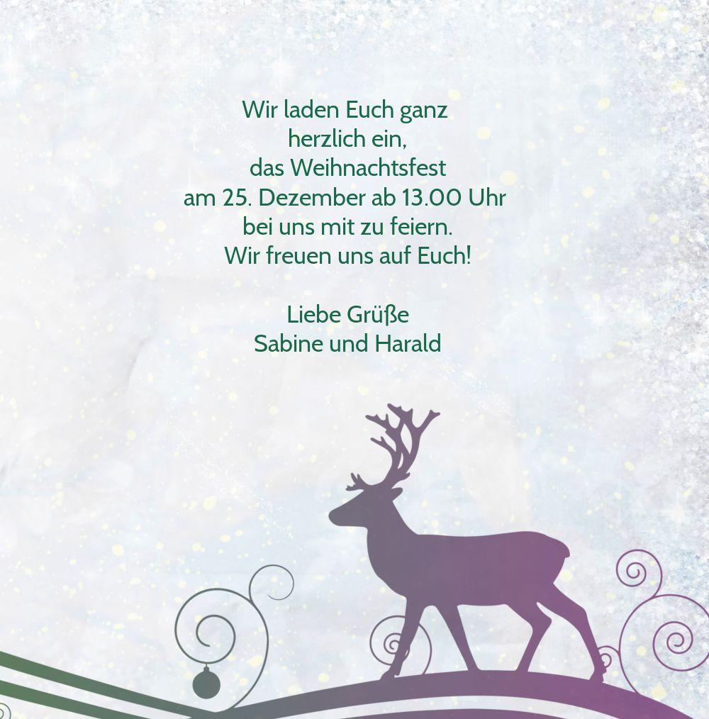 Ansicht 5 - Einladungskarte Bunter Wintertraum