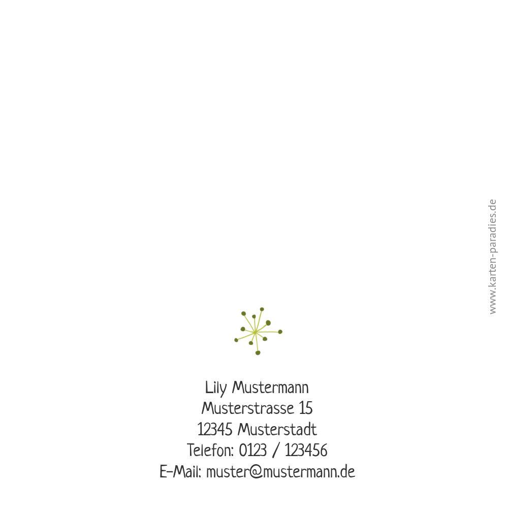 Ansicht 2 - Einladung mit Foto Einhorn