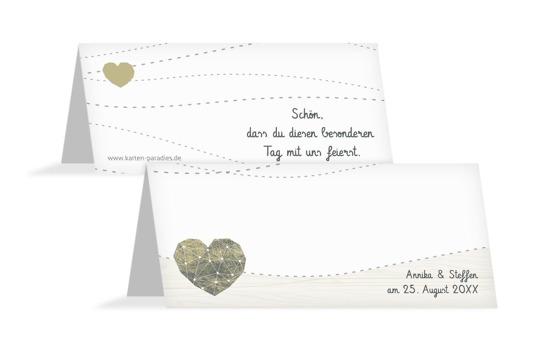 Hochzeit Tischkarte Sternenbild