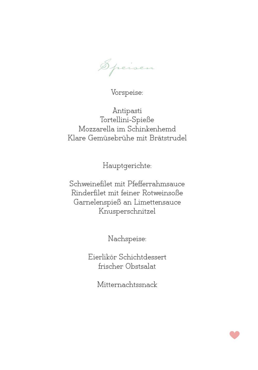 Ansicht 5 - Hochzeit Menükarte Zarte Ranke
