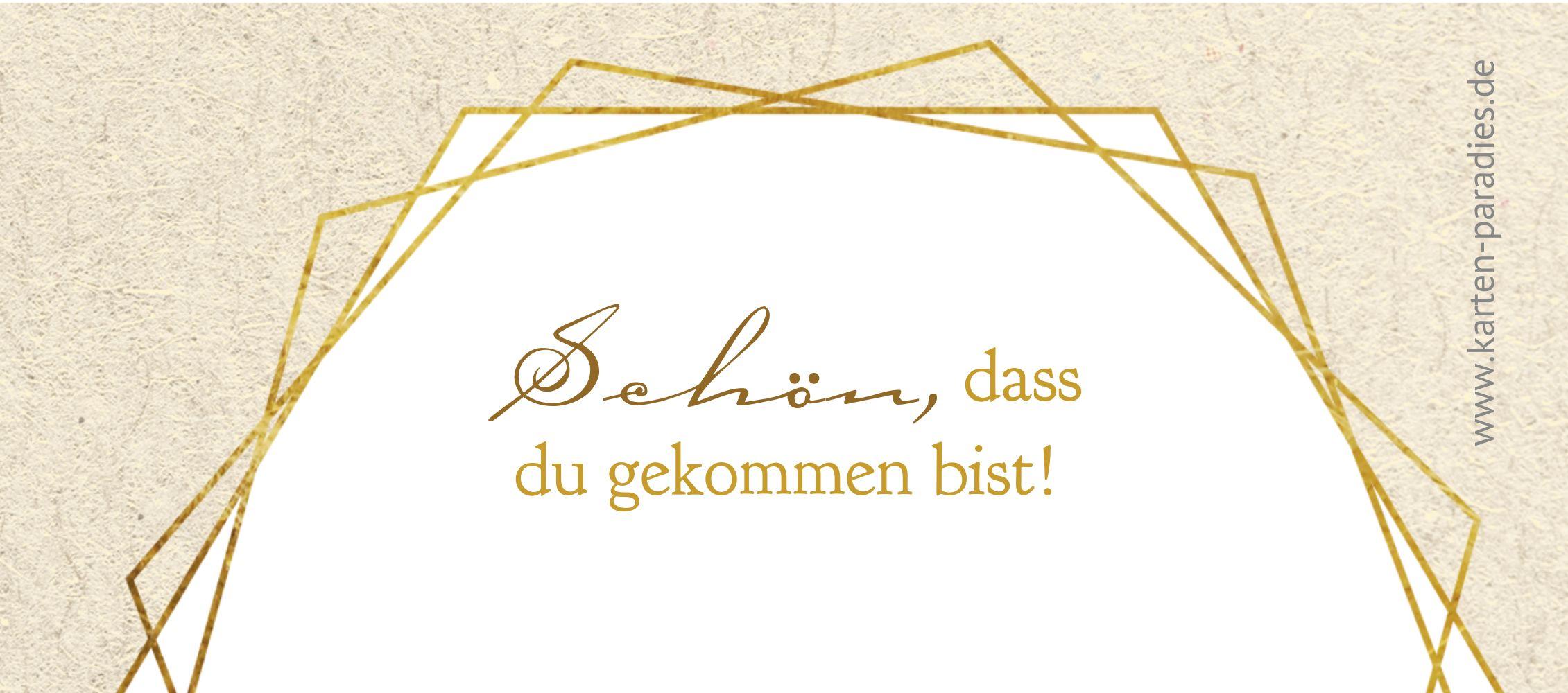 Ansicht 2 - Firmung Tischkarte Goldrausch
