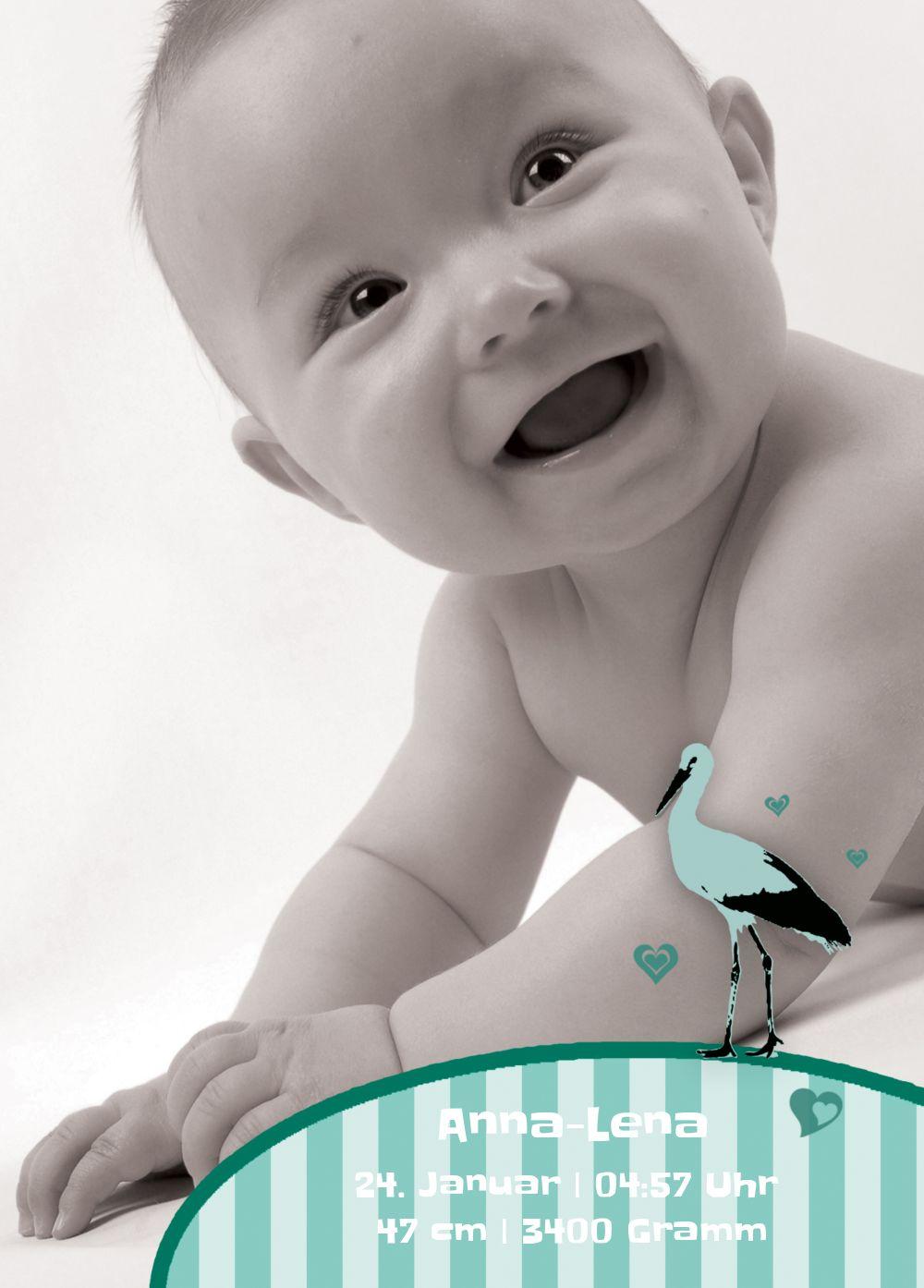 Ansicht 2 - Baby Dankeskarte Harmonie