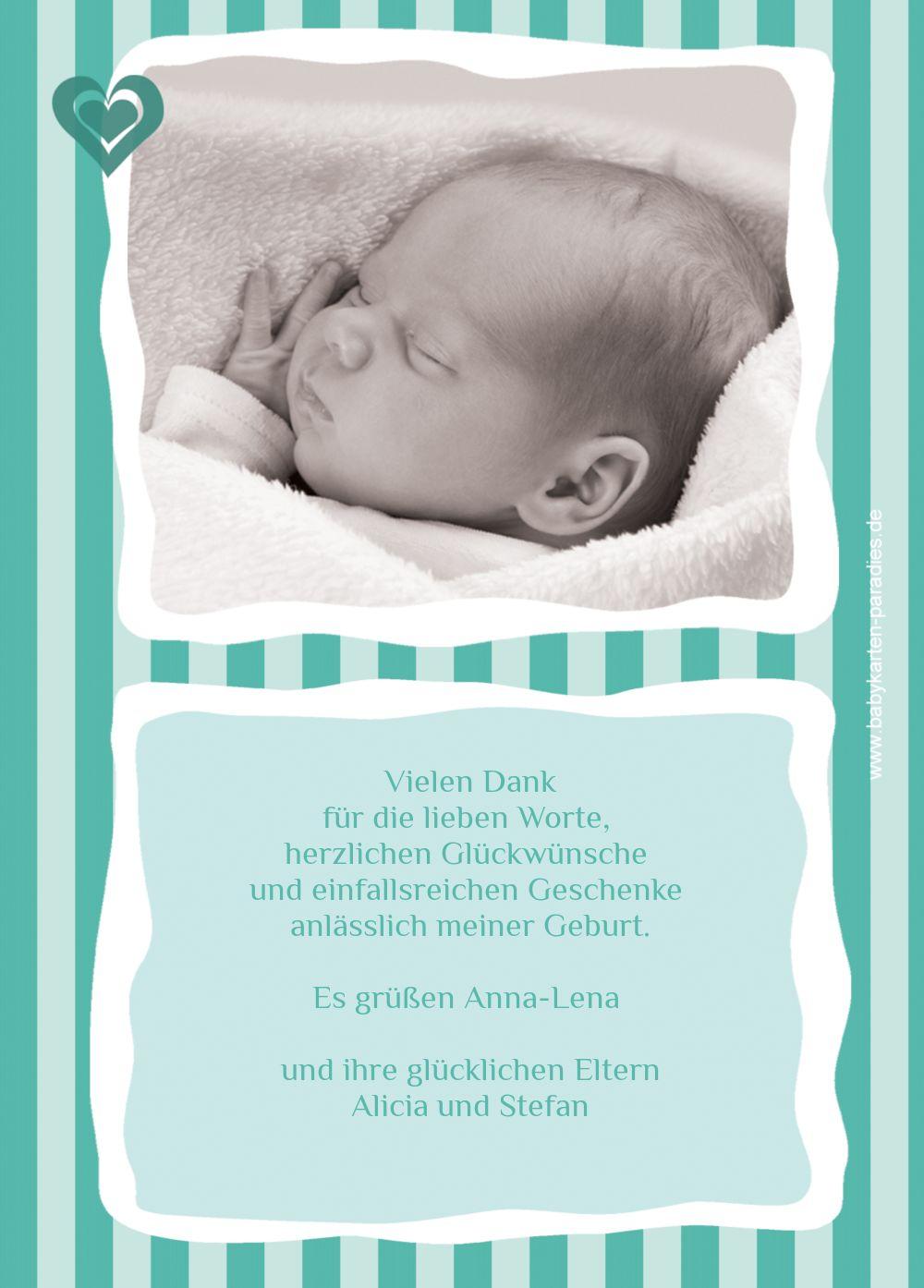 Ansicht 3 - Baby Dankeskarte Harmonie