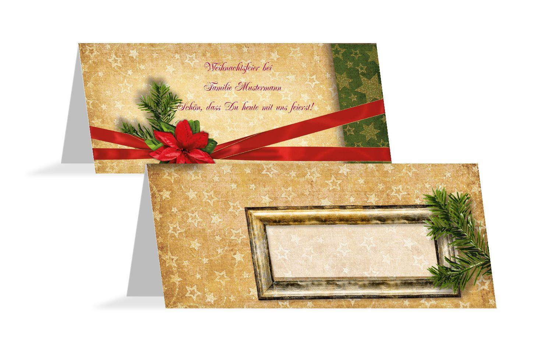 Tischkarte Goldenes Geschenk