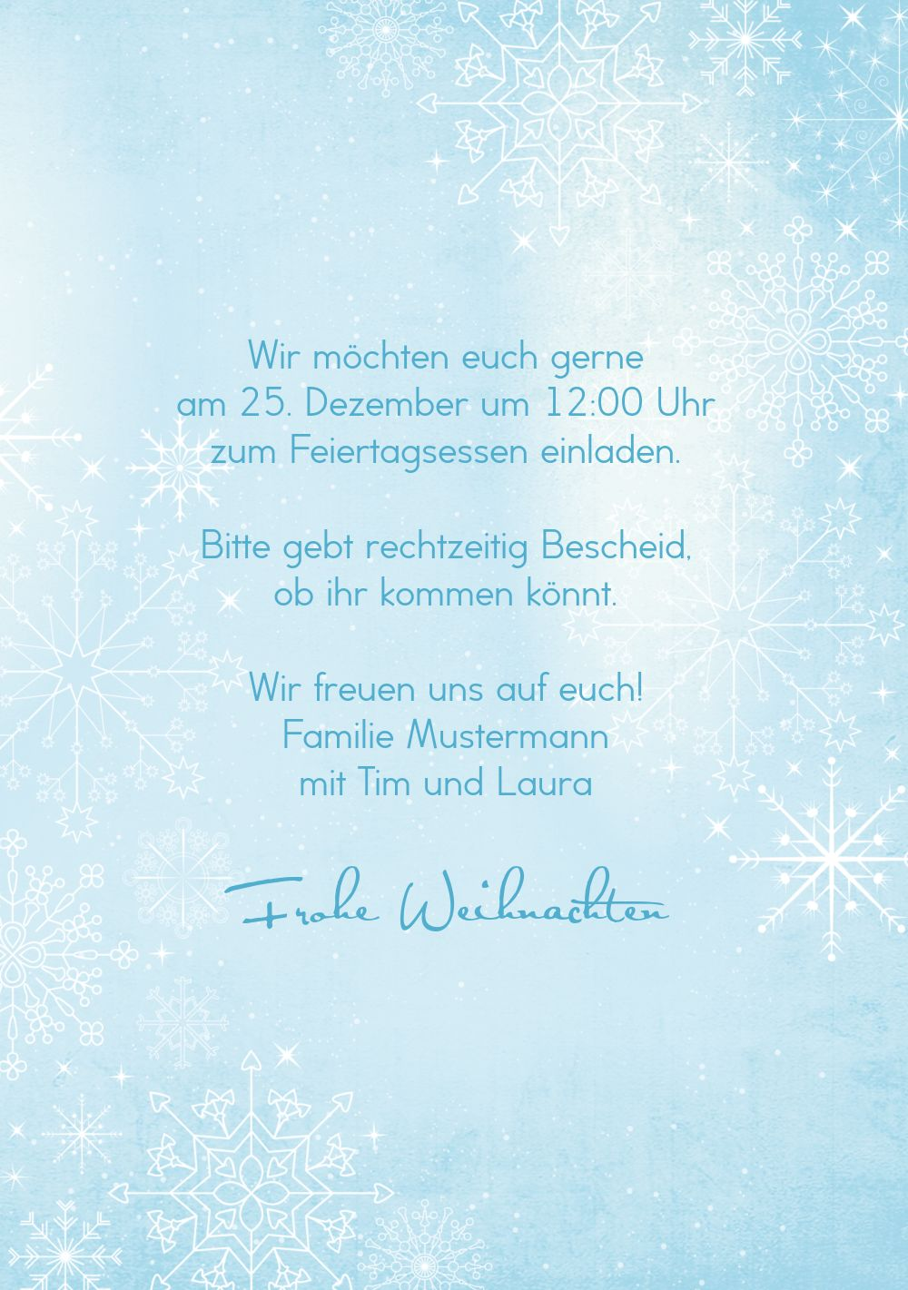 Ansicht 5 - Einladung Wintertraum