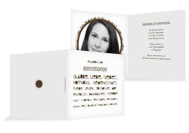 Konfirmation Einladungskarte Spruchkreis
