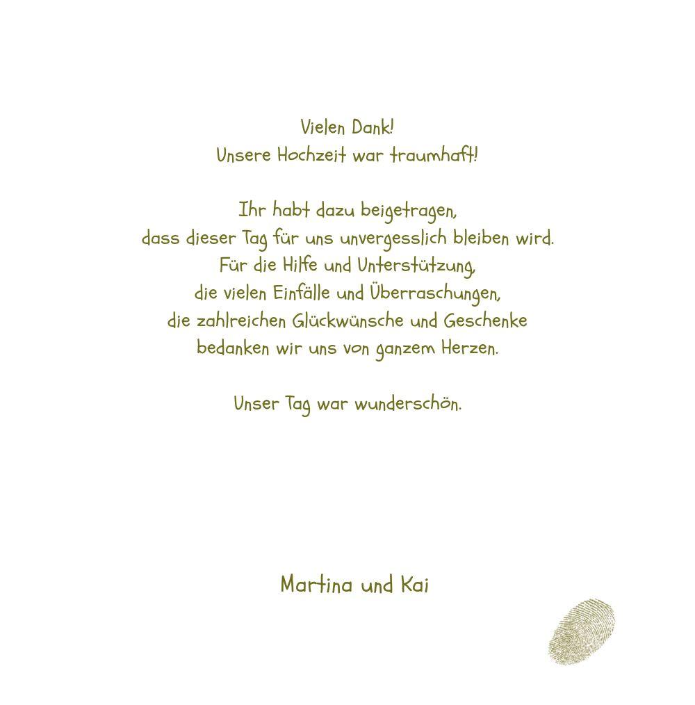 Ansicht 5 - Hochzeit Dankeskarte fingerprint