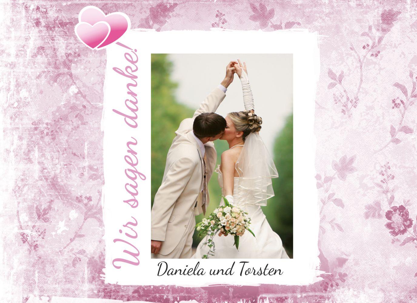 Ansicht 5 - Hochzeit Danke Din romantische Liebe