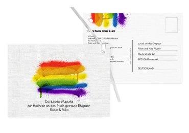 Ballonkarte Regenbogenliebe
