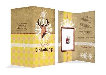Foto Einladung Hirschkopf