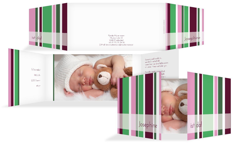 Babykarte Zweifarbklang