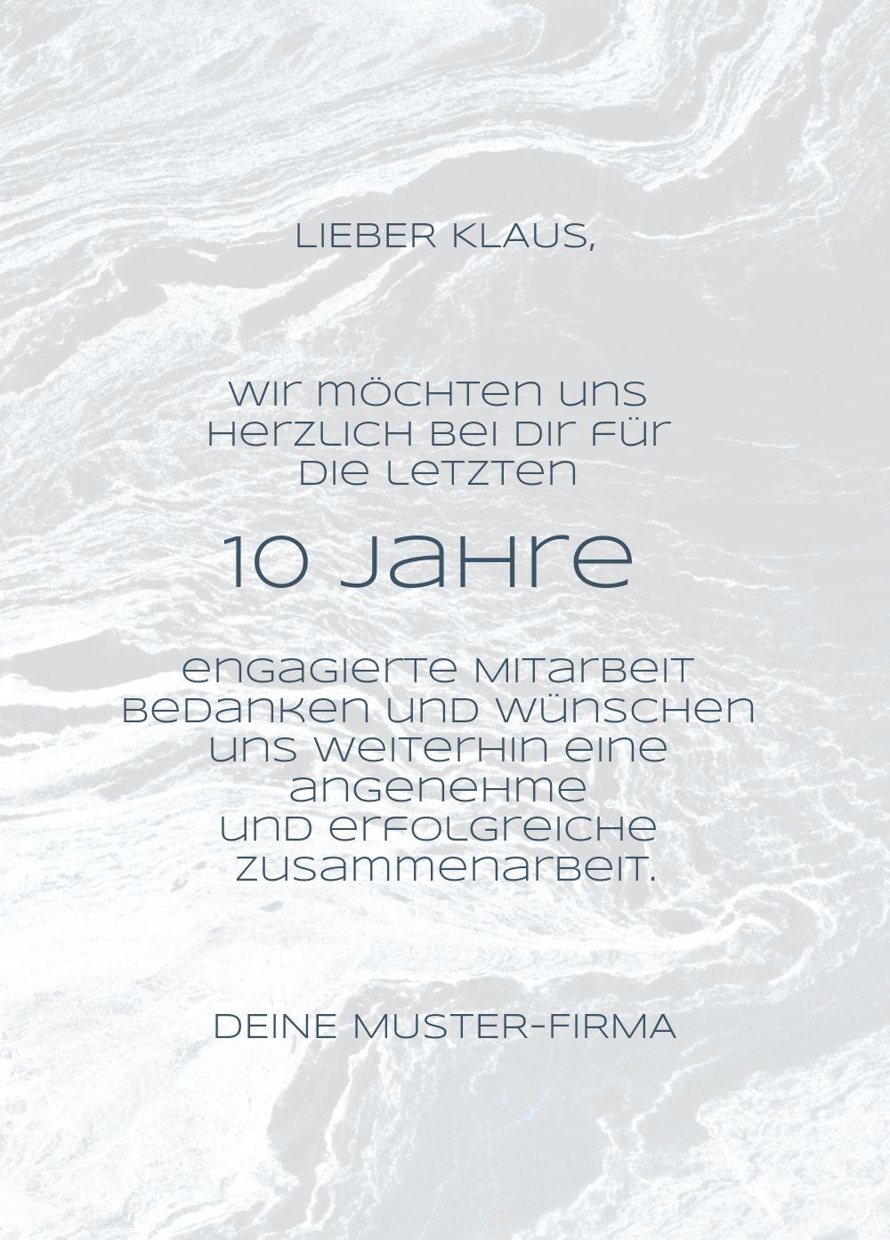 Ansicht 3 - Jubiläumskarte Marmor