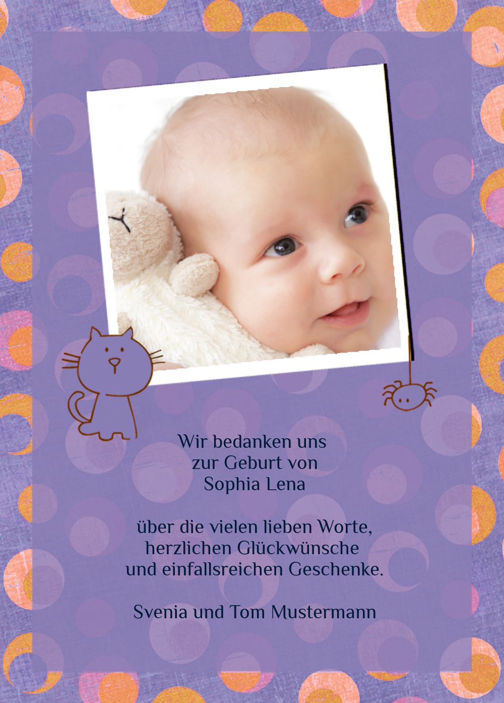 Ansicht 3 - Baby Dankeskarte Katze