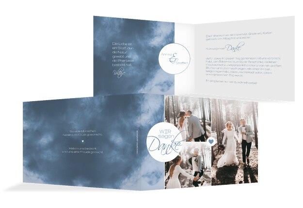 Hochzeit Dankeskarte Sanft