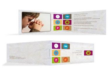 Kommunionskarte buttons