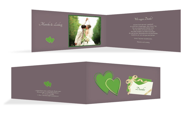 Hochzeit Dankeskarte Eheglück