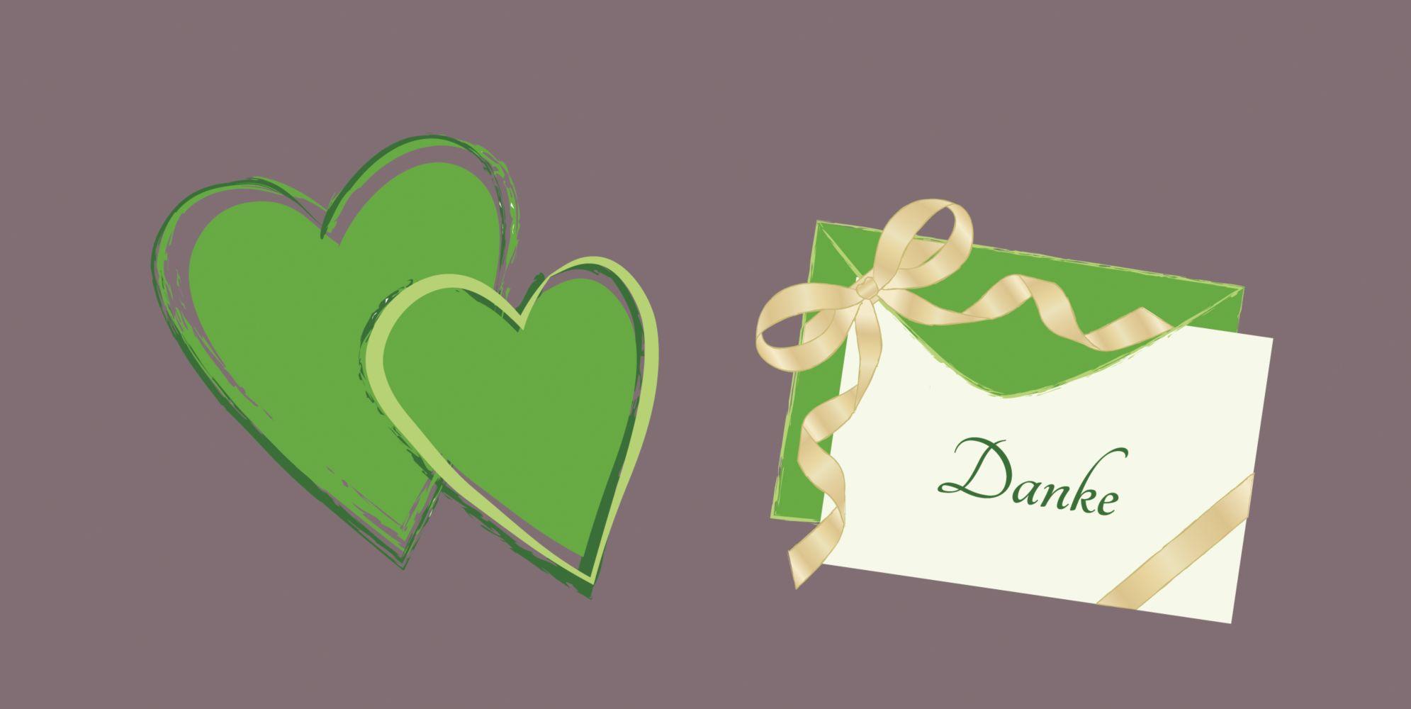 Ansicht 3 - Hochzeit Dankeskarte Eheglück
