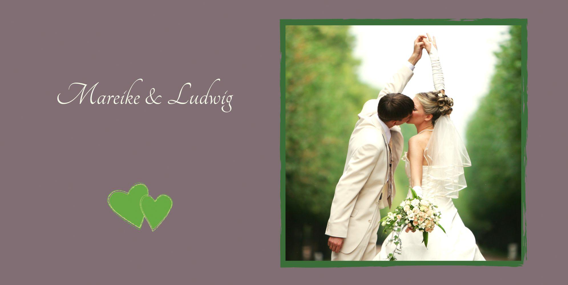 Ansicht 4 - Hochzeit Dankeskarte Eheglück