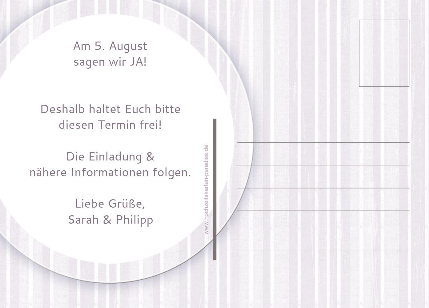 Ansicht 3 - Save-the-Date Streifenzauber