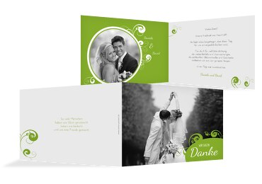 Hochzeit Dankeskarte squiggle chubby