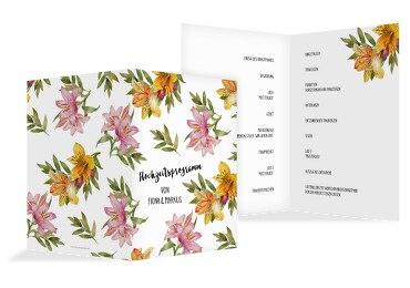 Hochzeit Kirchenheft Umschlag Blumendeko