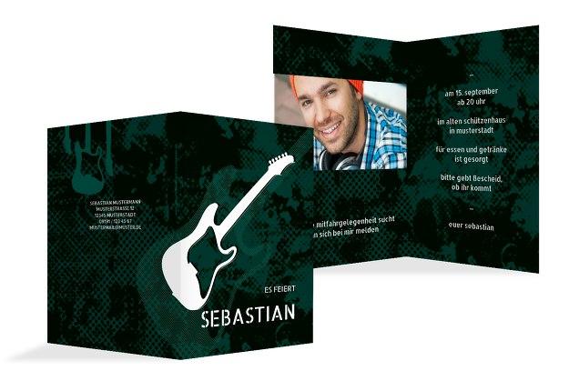Geburtstagskarte Guitar Foto