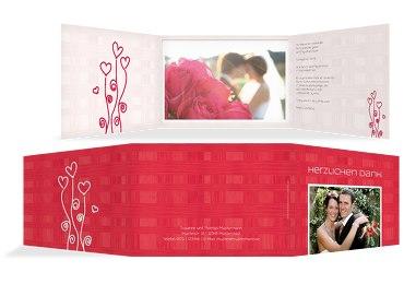 Hochzeit Dankeskarte Liebestraum