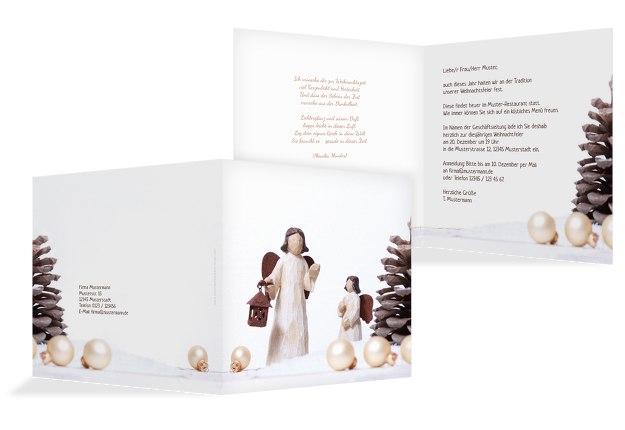 Einladung Weihnachtsengel