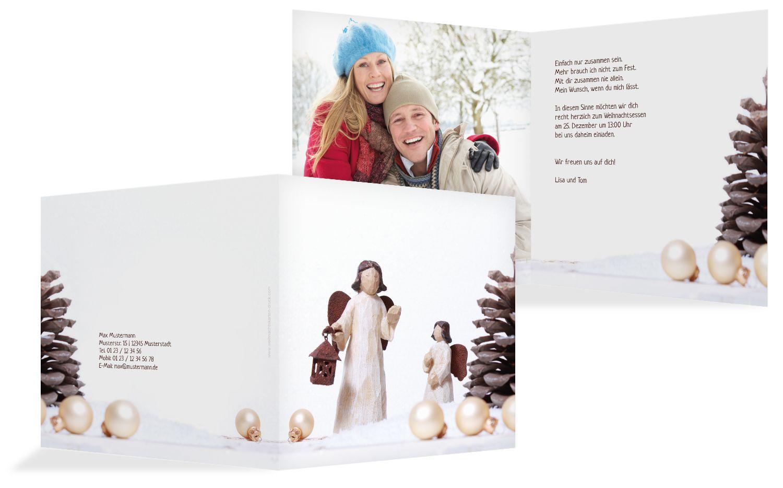 Foto Einladung Weihnachtsengel
